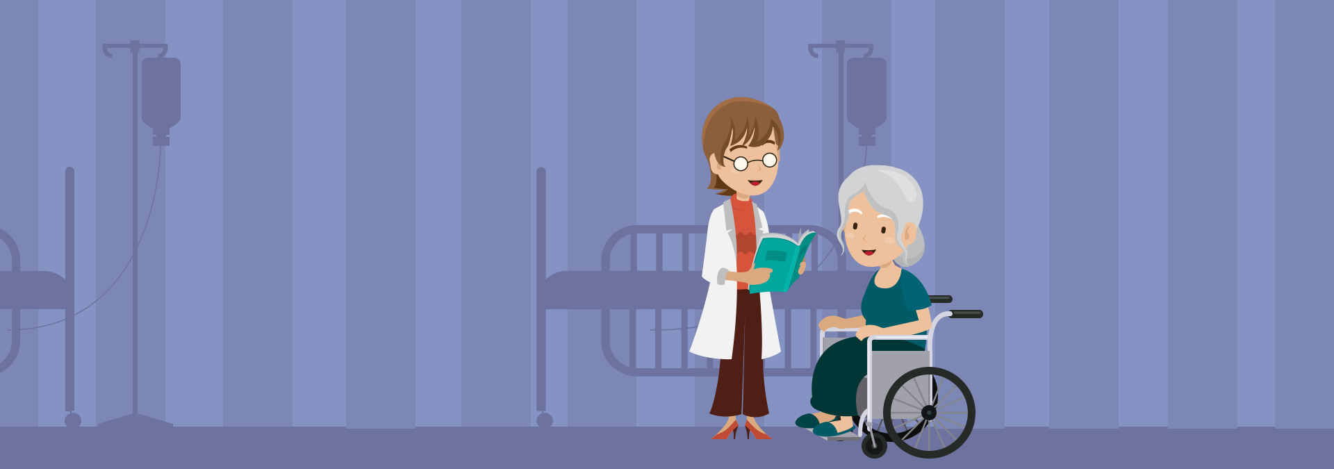 doctor and elderly woman